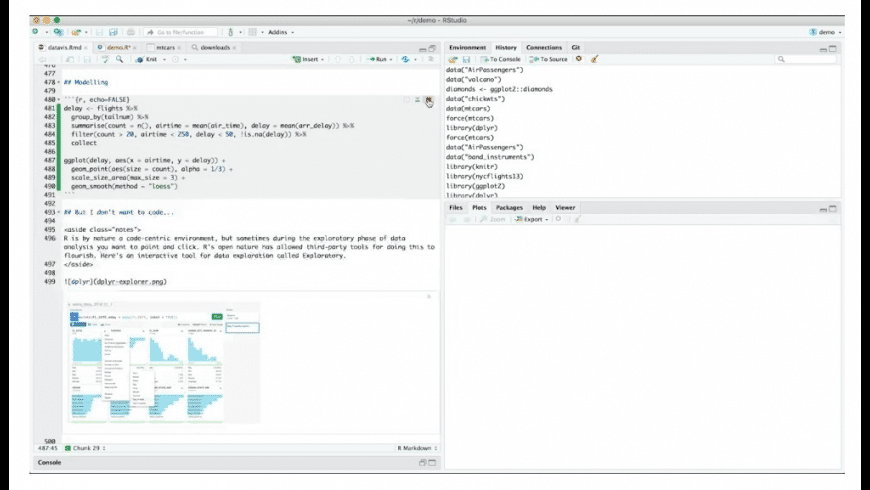 RStudio for Mac - review, screenshots