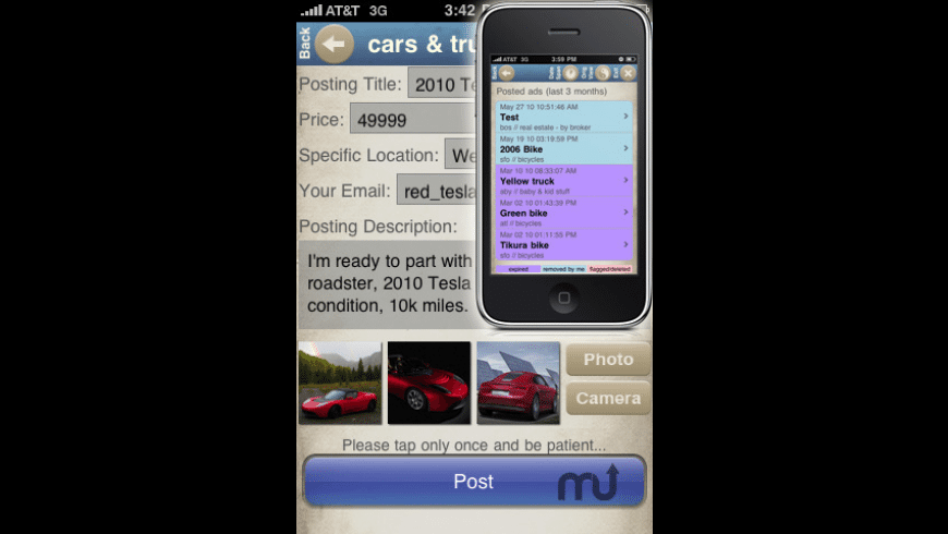Craigslist Pro for iPhone/iPod for Mac - review, screenshots