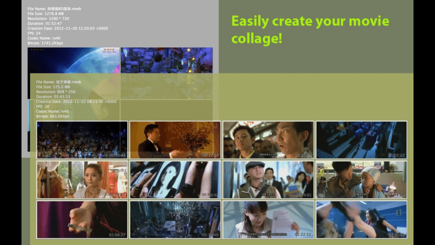 Movie Thumbnails Maker for Mac - review, screenshots