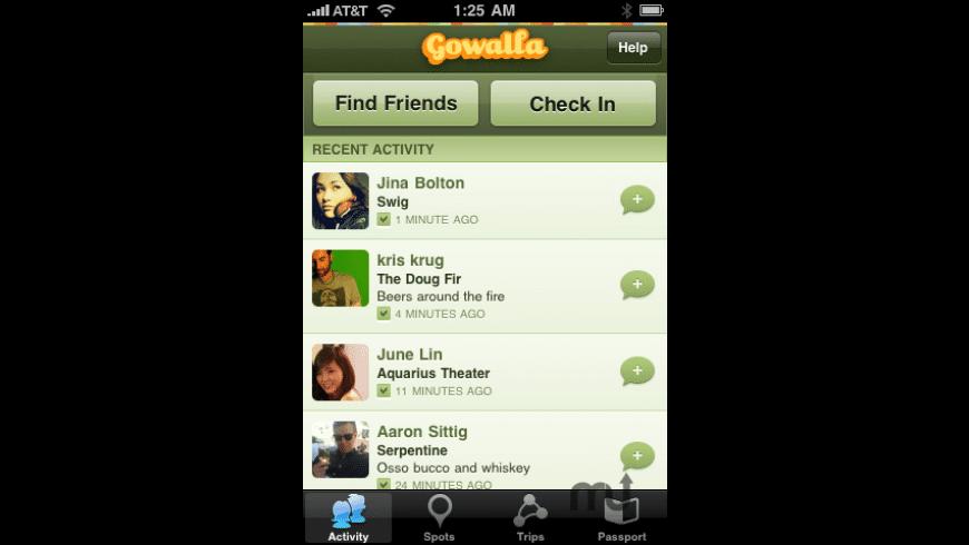 Gowalla for Mac - review, screenshots