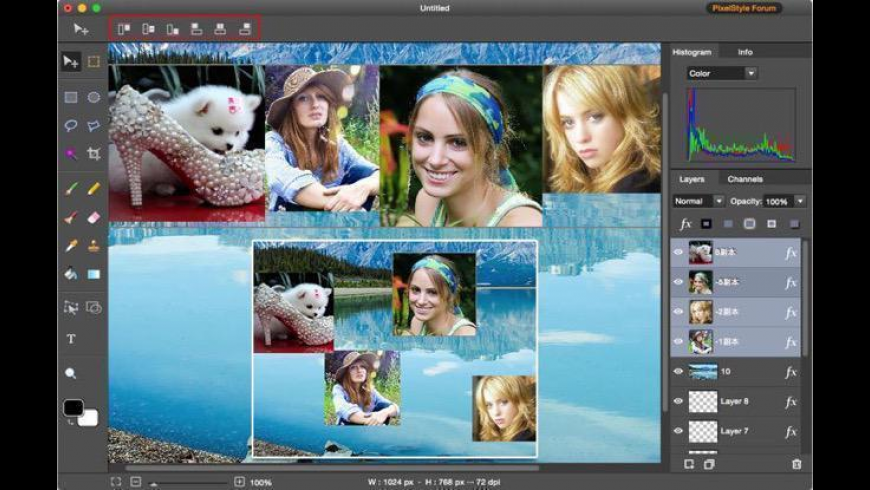 PixelStyle Photo Editor for Mac - review, screenshots