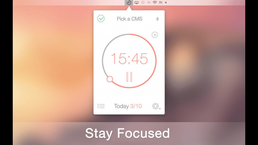 Be Focused - Focus Timer for Mac - review, screenshots