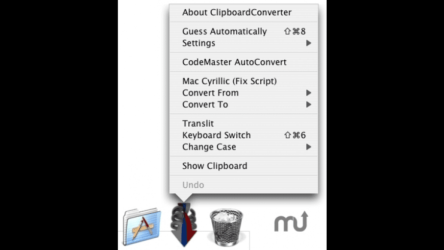 Cyrillic Clipboard Converter for Mac - review, screenshots