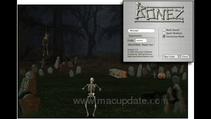 Bonez ScreenSaver for Mac - review, screenshots
