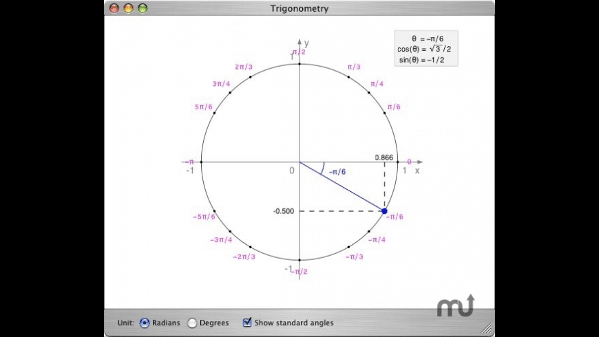 Trigonometry for Mac - review, screenshots