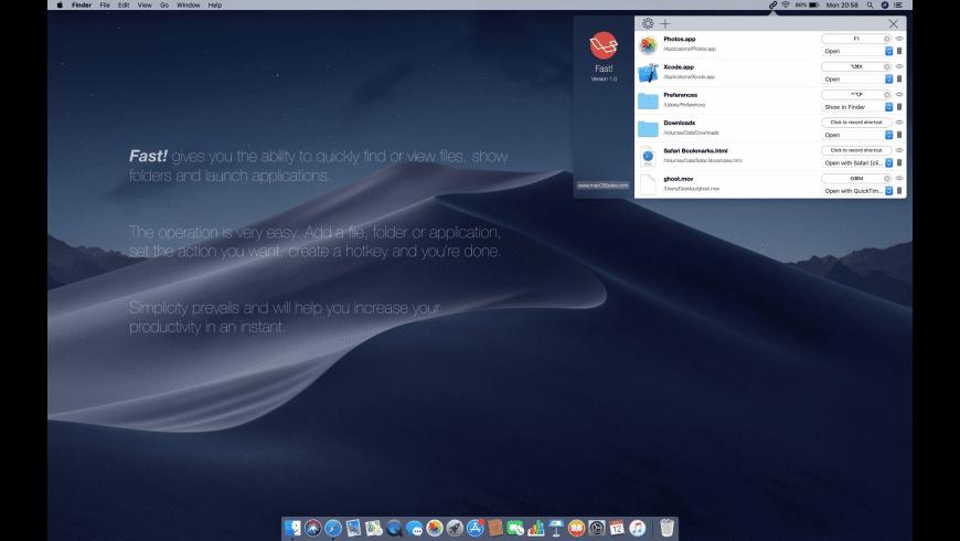 Fast! for Mac - review, screenshots