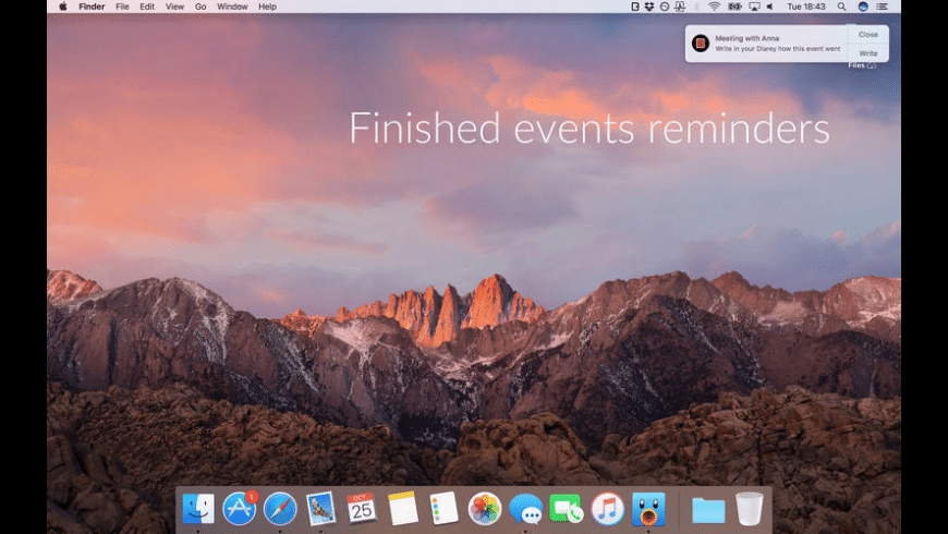 Diarey for Mac - review, screenshots