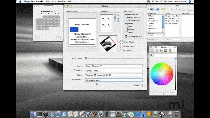 Floppy Disk Labeler for Mac - review, screenshots