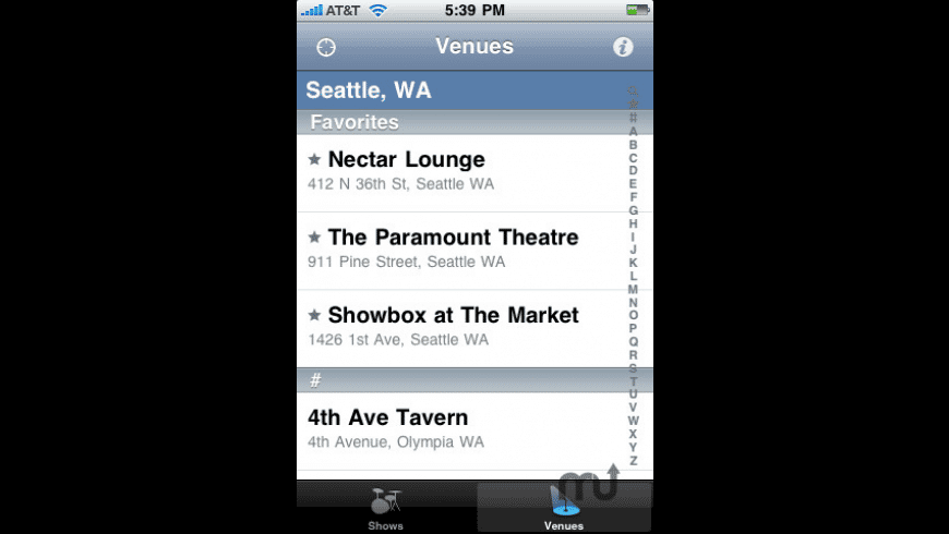 Local Concerts for Mac - review, screenshots