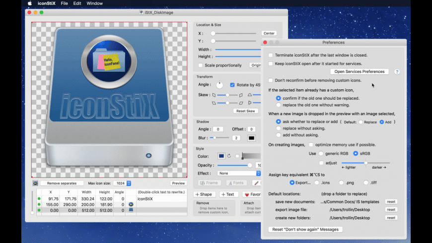 iconStiX for Mac - review, screenshots