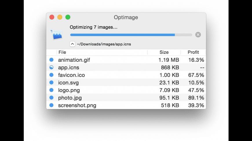 Optimage for Mac - review, screenshots