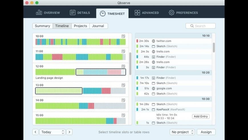 Qbserve for Mac - review, screenshots