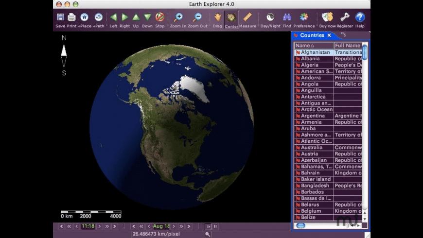 Earth Explorer for Mac - review, screenshots