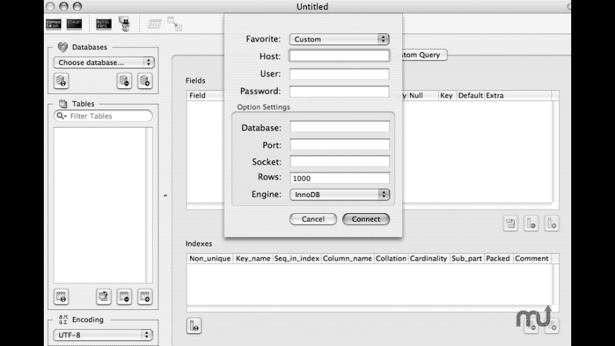 CocoaMySQL-SBG for Mac - review, screenshots