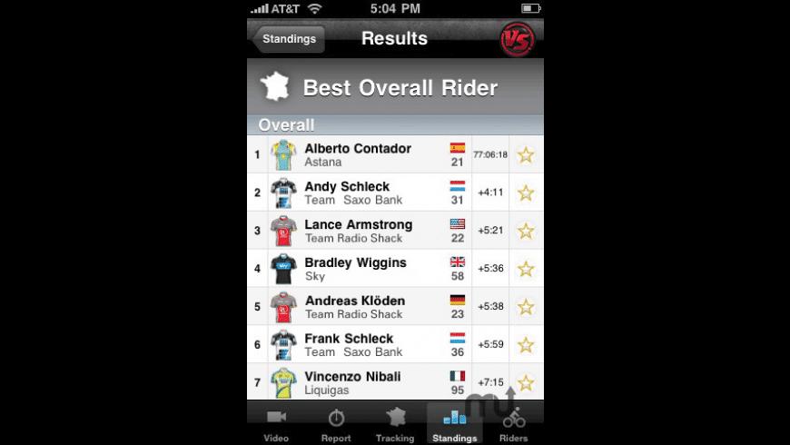 Official Versus Tour de France LIVE for Mac - review, screenshots