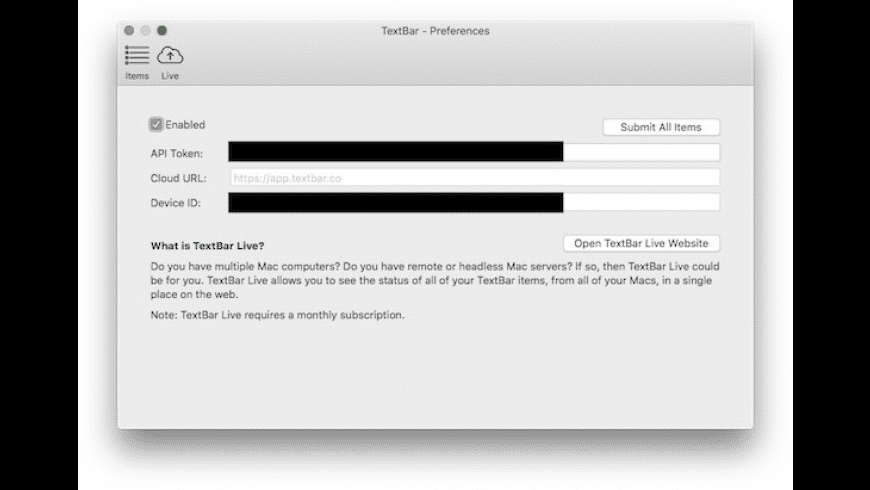 TextBar for Mac - review, screenshots