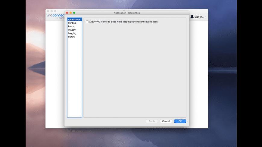 VNC Viewer for Mac - review, screenshots