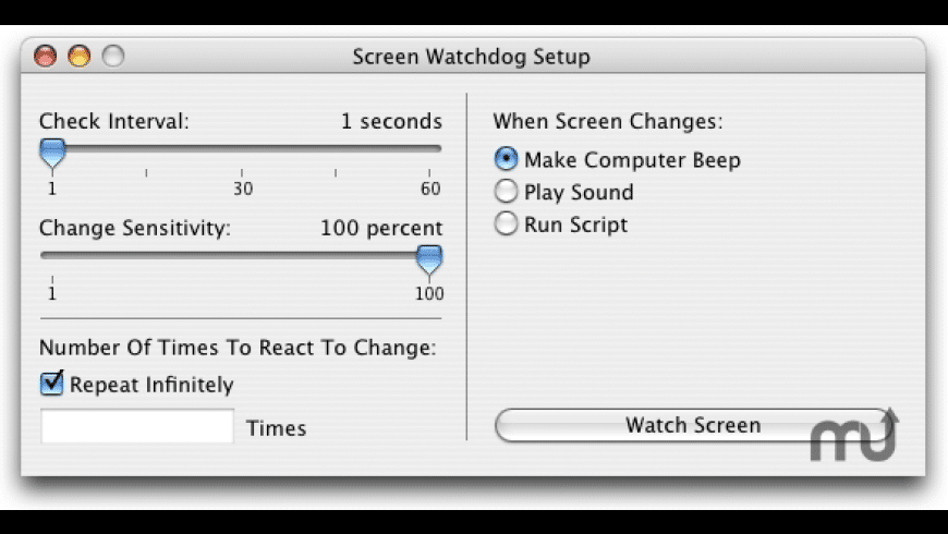 Screen Watchdog for Mac - review, screenshots