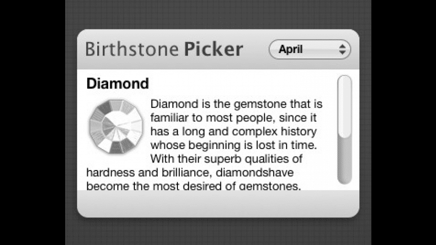Birthstone Finder for Mac - review, screenshots