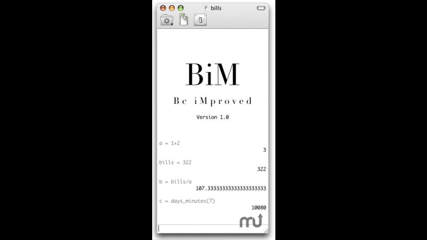 BiM for Mac - review, screenshots