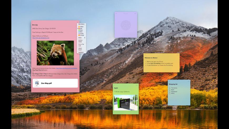 Memo for Mac - review, screenshots