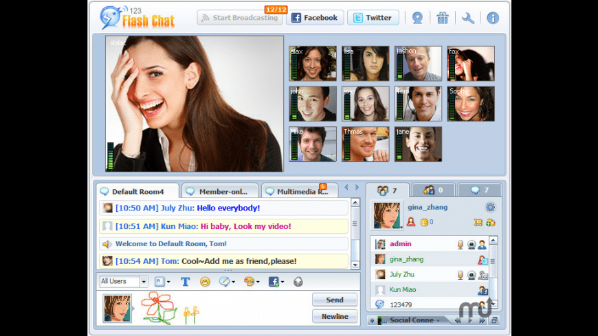 123 Flash Chat for Mac - review, screenshots
