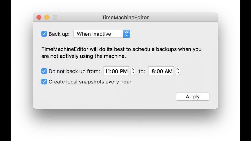 TimeMachineEditor for Mac - review, screenshots