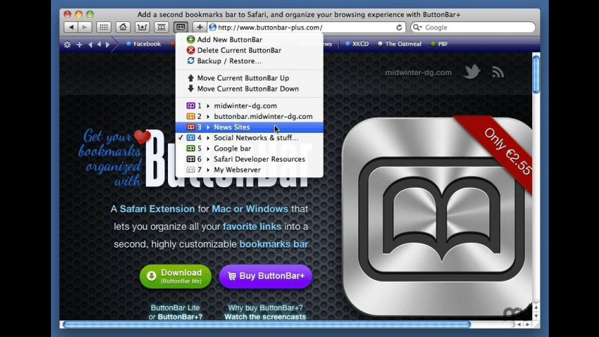 ButtonBar+ for Mac - review, screenshots
