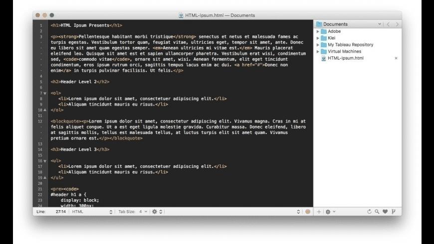 TextMate for Mac - review, screenshots