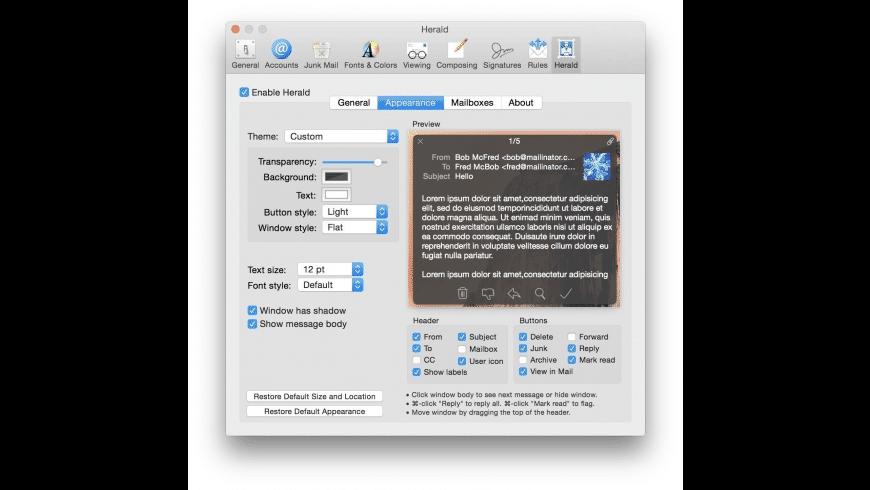 Herald for Mac - review, screenshots