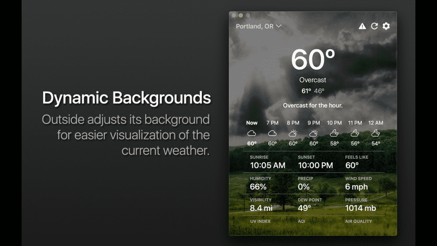 Outside for Mac - review, screenshots