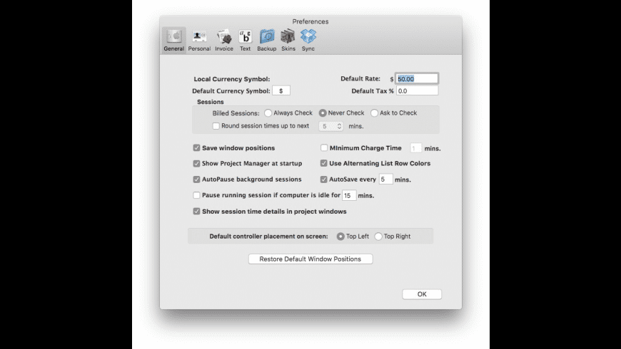 TaskTime4 for Mac - review, screenshots