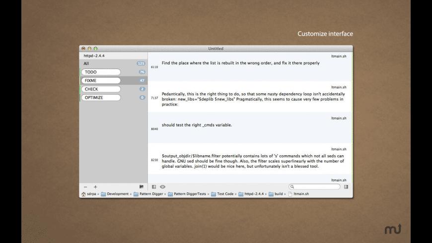 Pattern Digger for Mac - review, screenshots