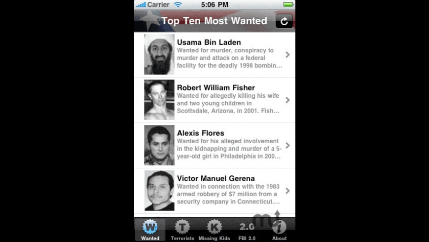 Most Wanted for Mac - review, screenshots