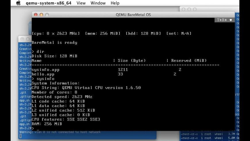 QEMU System for Mac - review, screenshots