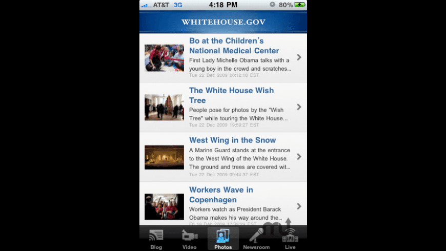 The White House for Mac - review, screenshots