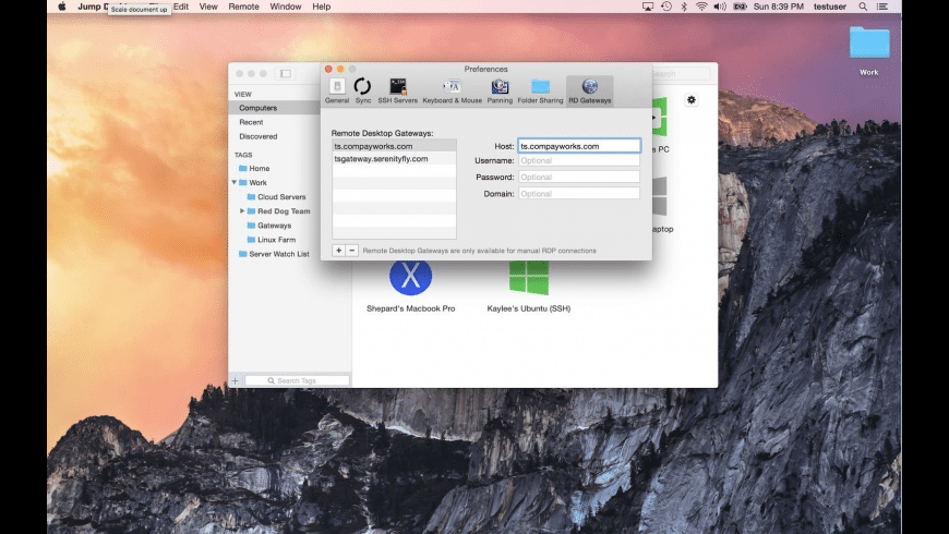 Jump Desktop for Mac - review, screenshots