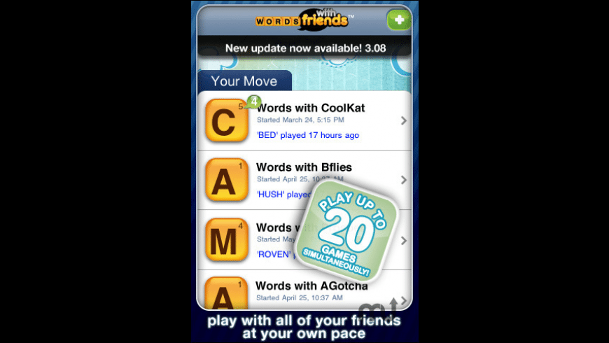 Words With Friends for Mac - review, screenshots
