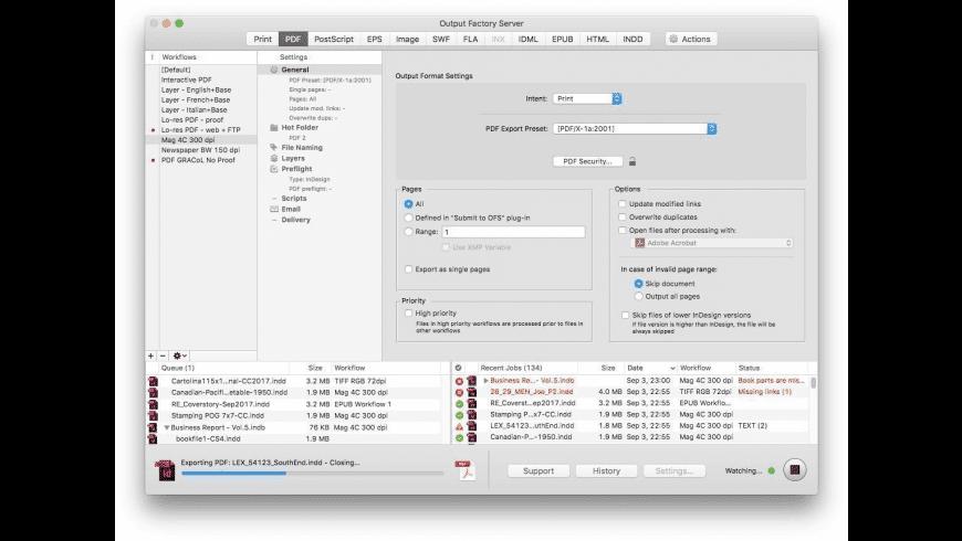 Output Factory Server for Mac - review, screenshots