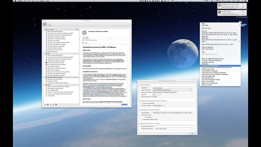 Useful Mac Services for Mac - review, screenshots