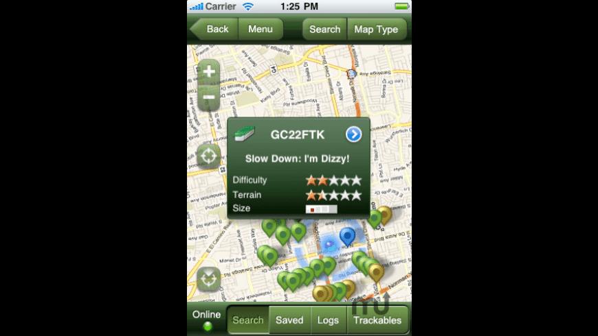 Geocaching for Mac - review, screenshots