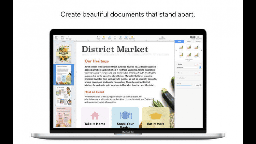 Apple Pages for Mac - review, screenshots