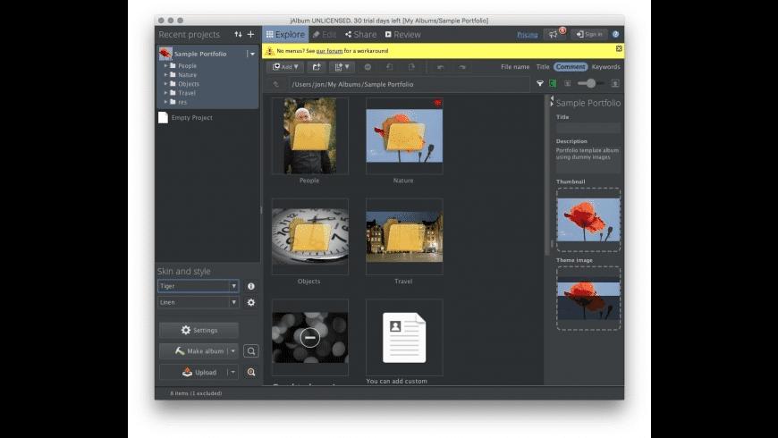 jAlbum for Mac - review, screenshots
