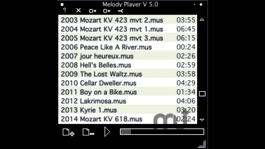 Melody Player for Mac - review, screenshots