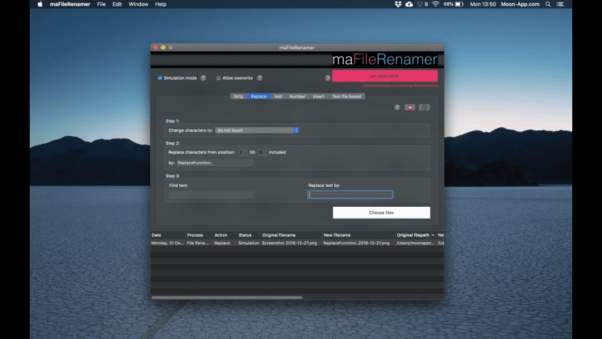 maFileRenamer for Mac - review, screenshots