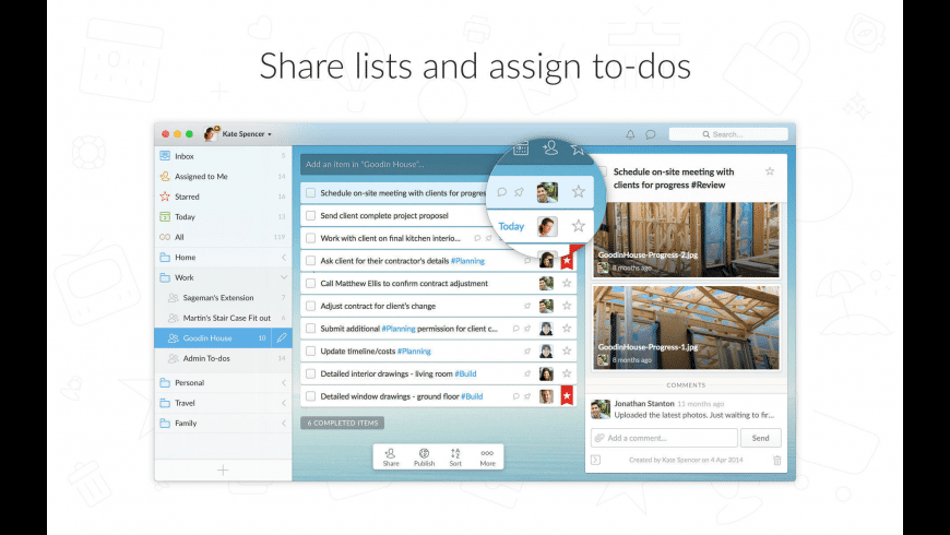 Wunderlist for Mac - review, screenshots