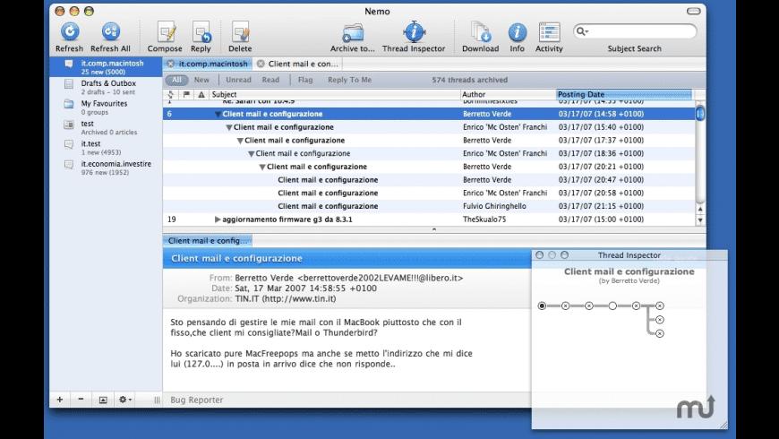 Nemo for Mac - review, screenshots