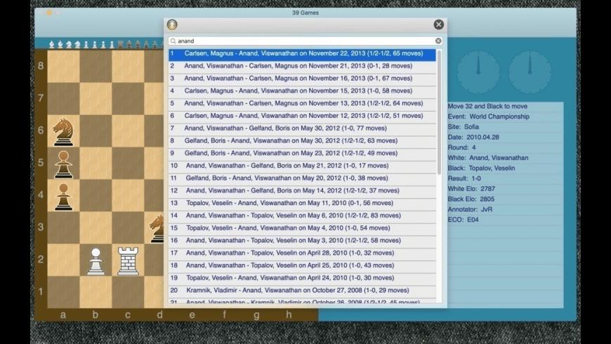GreenChess for Mac - review, screenshots