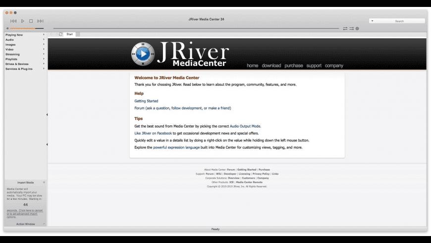 JRiver Media Center for Mac - review, screenshots