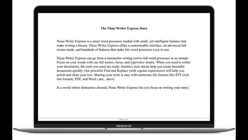 Nisus Writer Express for Mac - review, screenshots